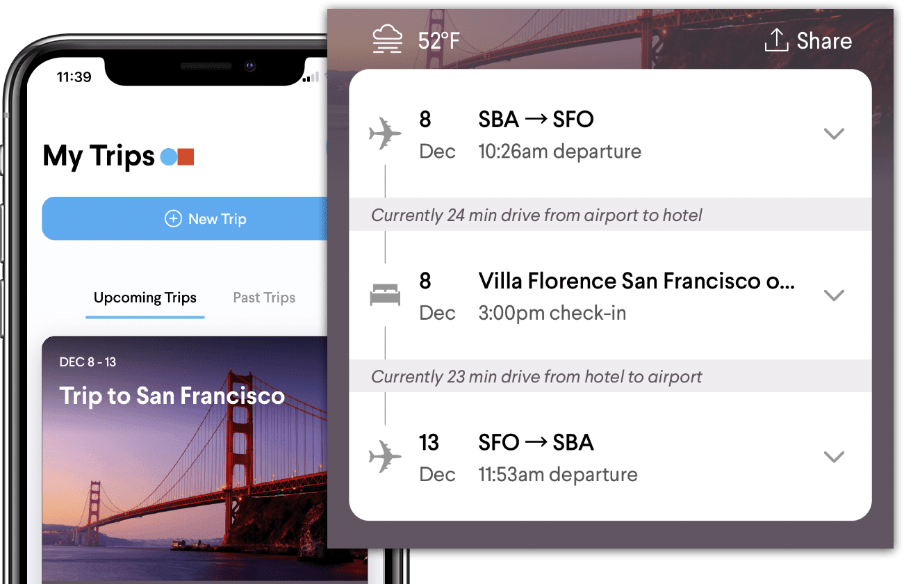 TripActions Product Screenshot - Search interface shows travel policy to keep travelers within budget