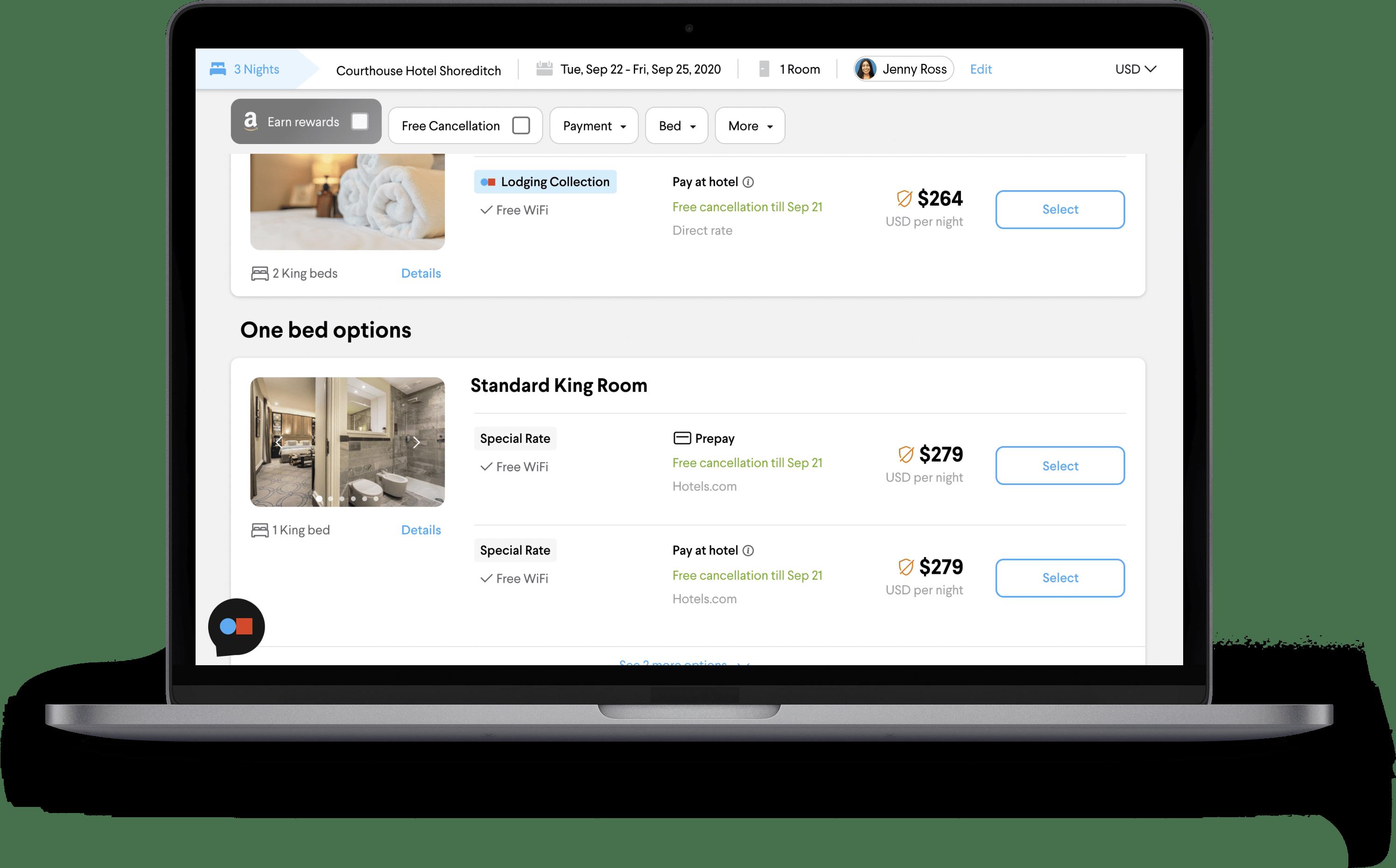 TripActions Product Screenshot - Easily set up a high performance travel program