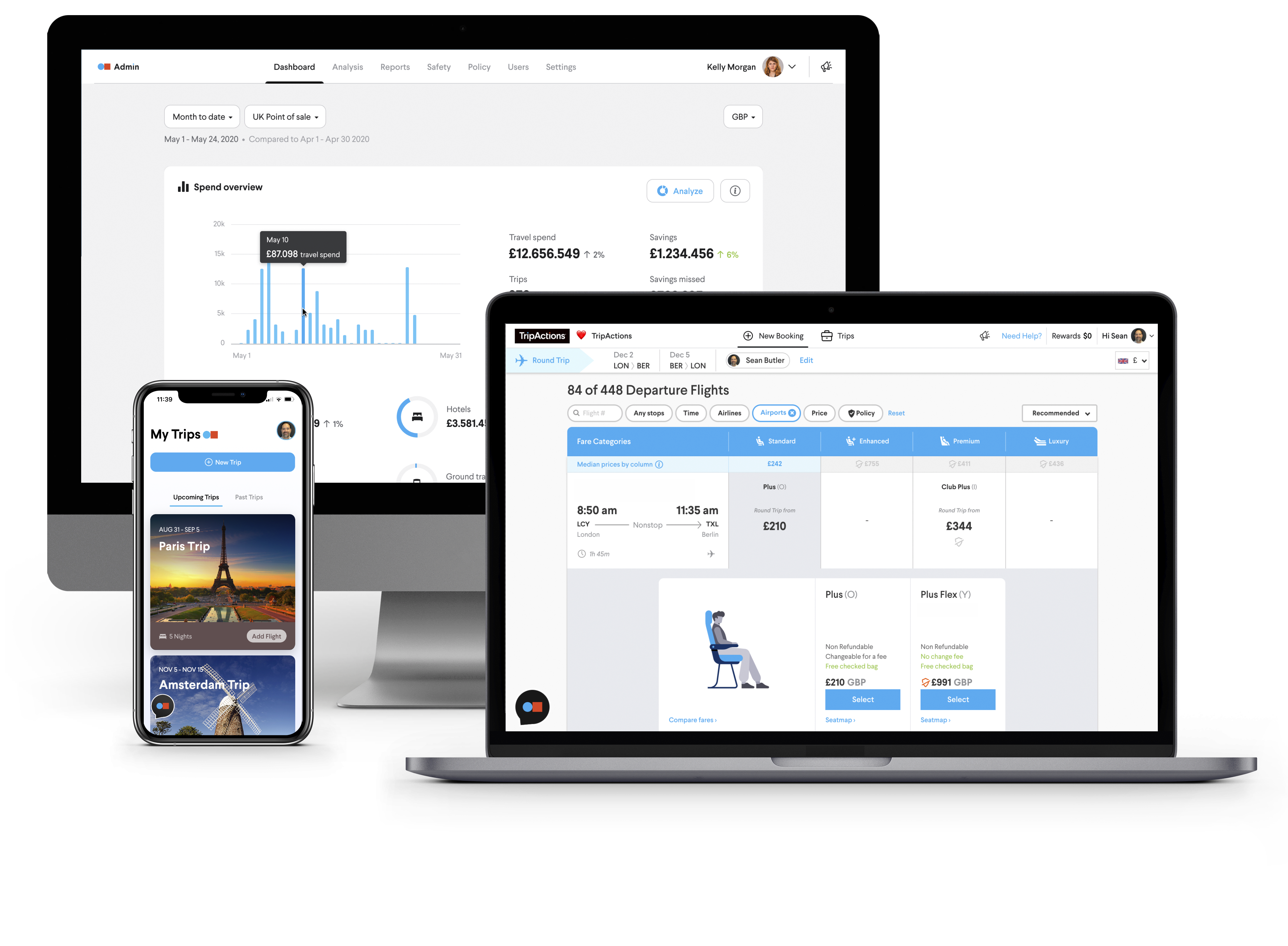 TripActions Product Screenshot - Travel managers get the tools to build and manage a travel program