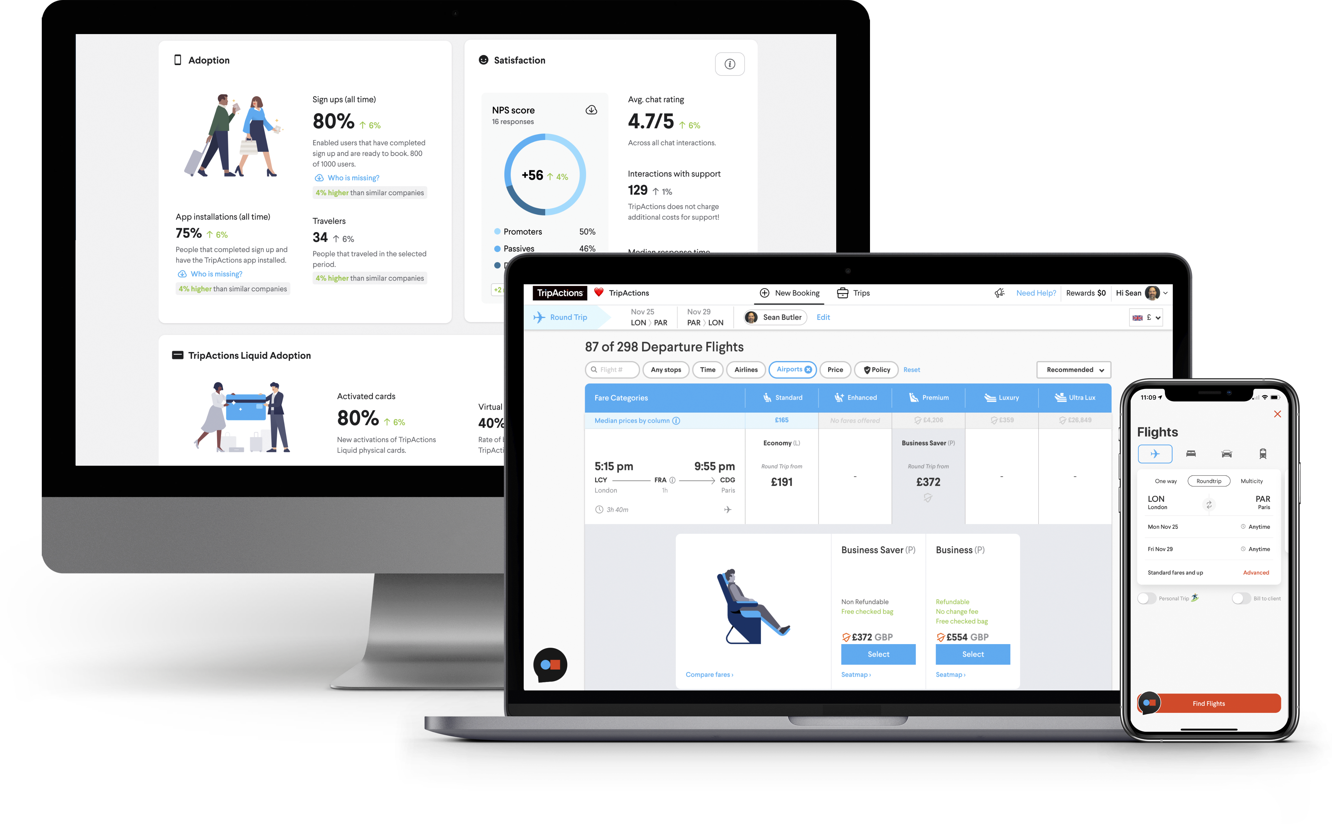 Why TripActions Product Screenshot - Provide travellers with 24x7 proactive human support