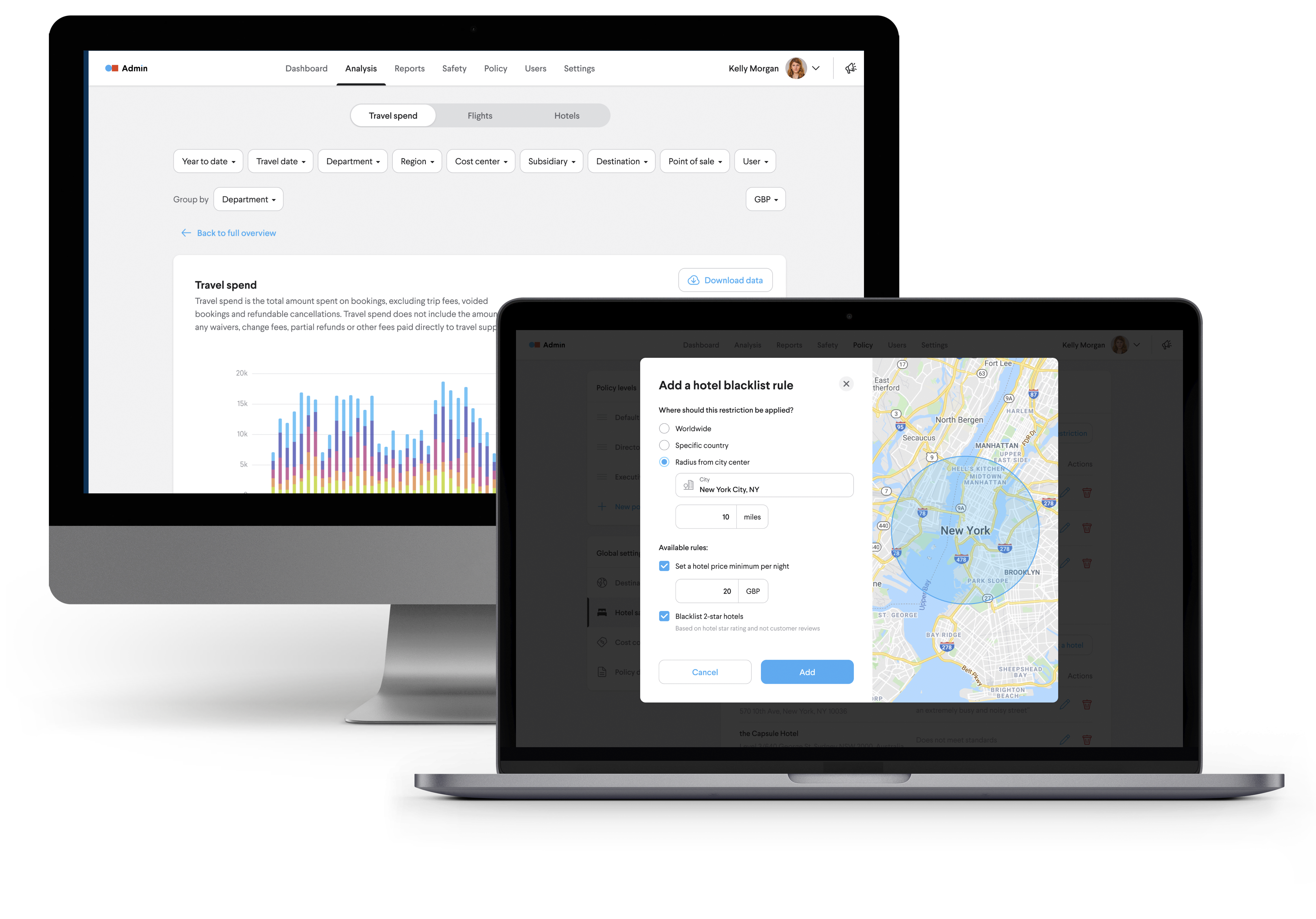 TripActions Enterprise - The TripActions product app includes a live traveller map to identify where your travellers are at all times as well as new coronavirus travel updates.