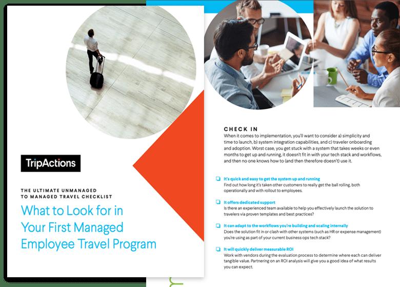 TripActions Asset - Travel program management checklist
