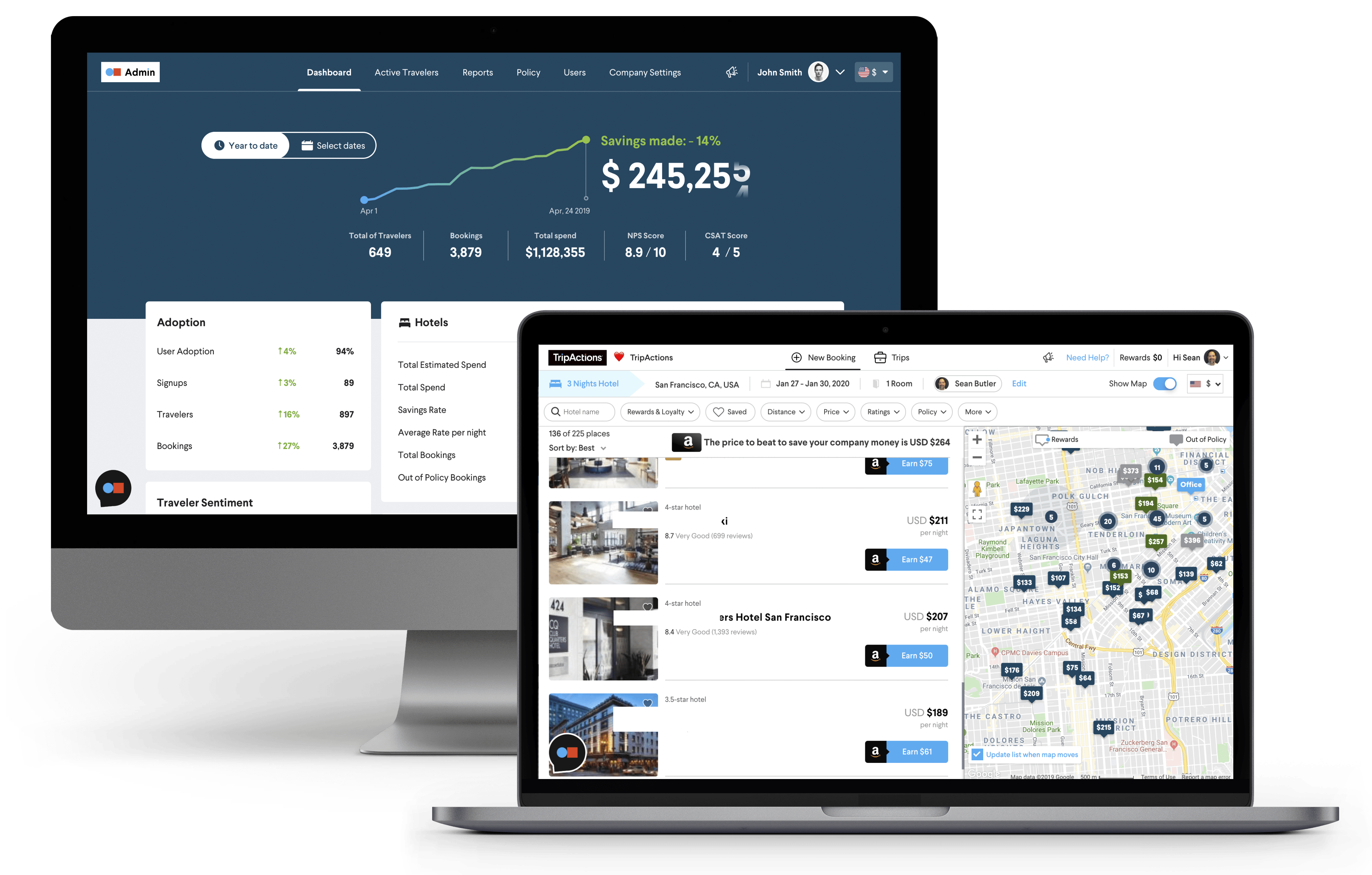 Why TripActions Product Screenshot - Provide travelers with 24x7 proactive human support