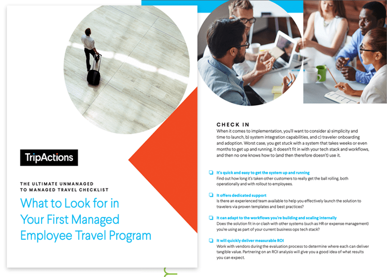 TripActions Asset - Travel program management checklist