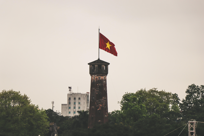 Hanoi, Vietnam Red Star Flag Building