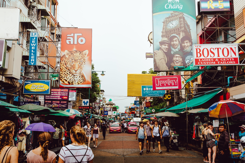 Bangkok Thailand, Streed Food and Shops