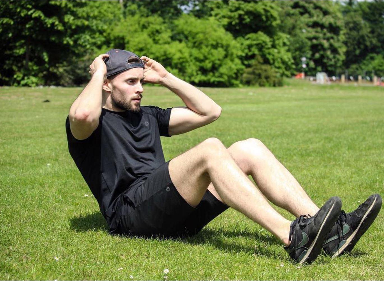 Jon performing sit ups