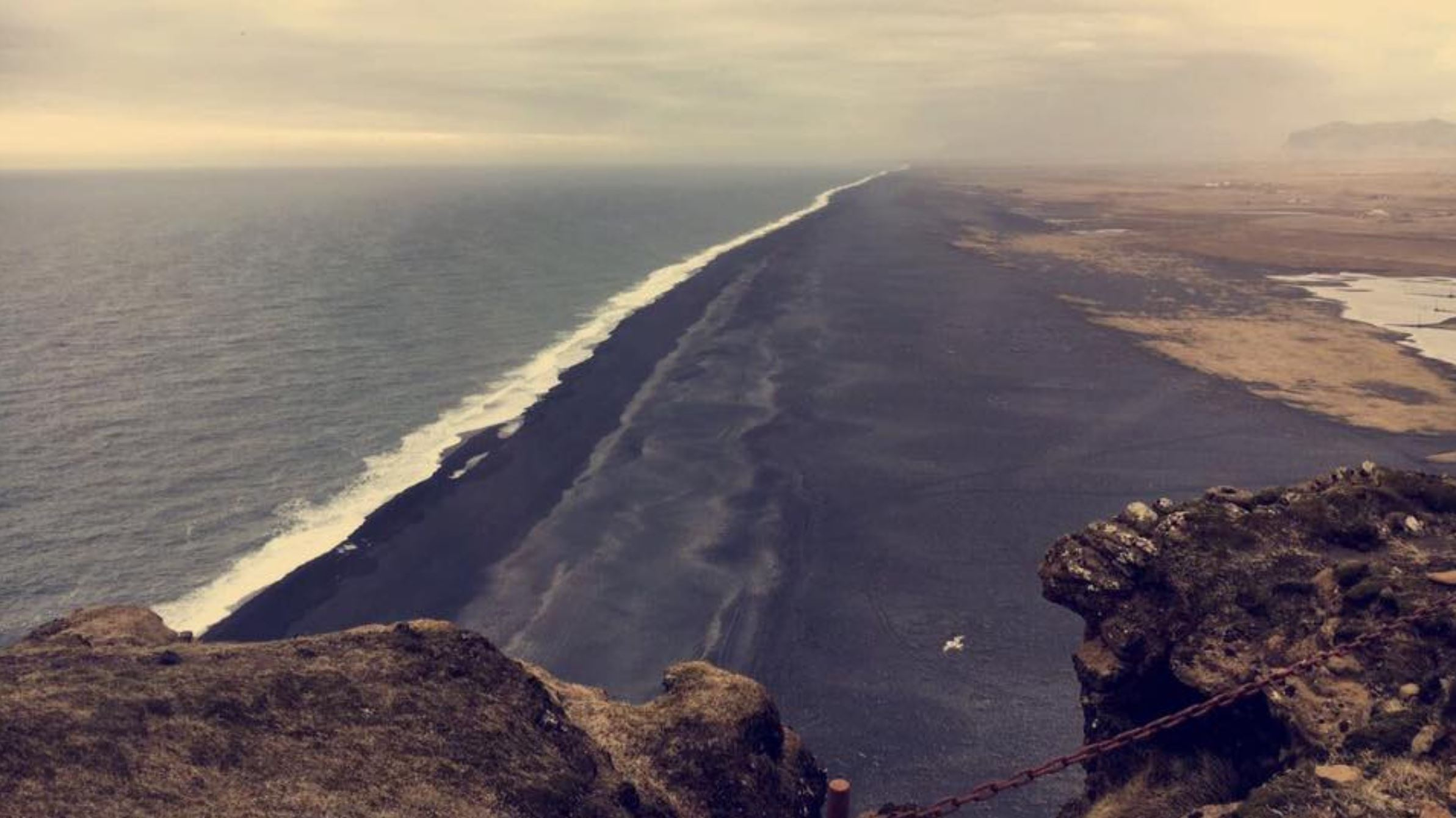 The southern coast of Iceland