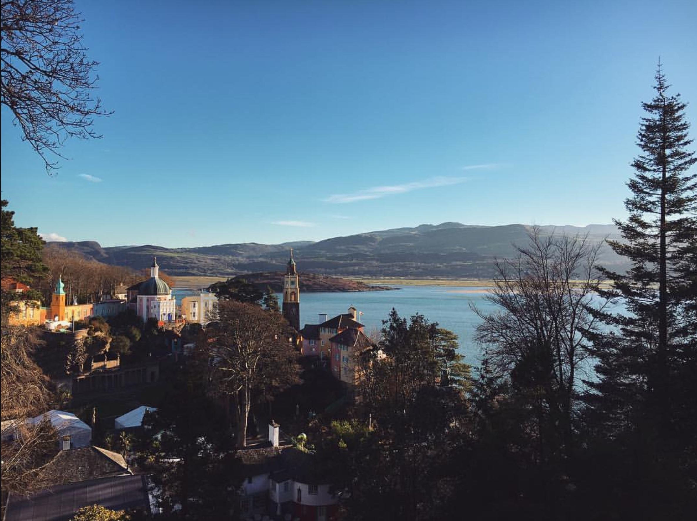 The view of Portmeirion, Wales
