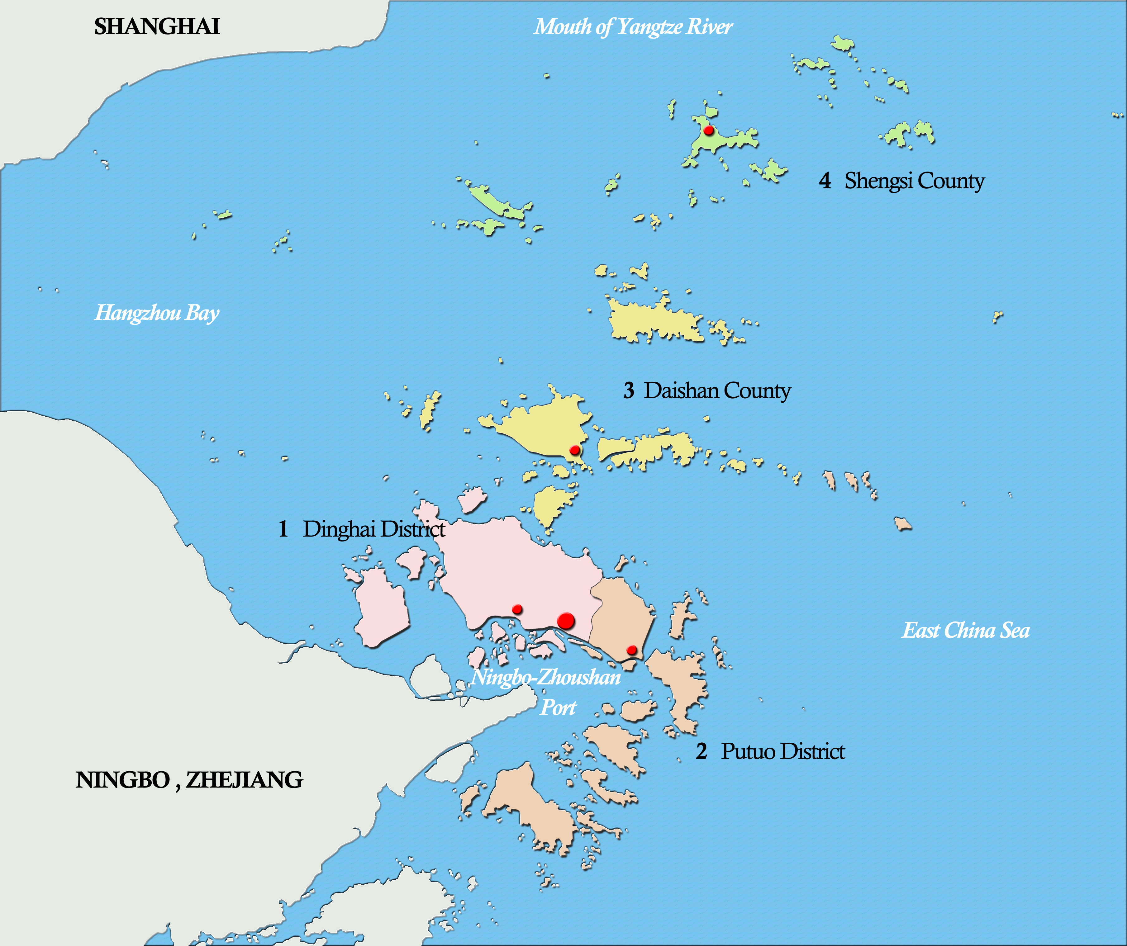 A map of the journey across islands