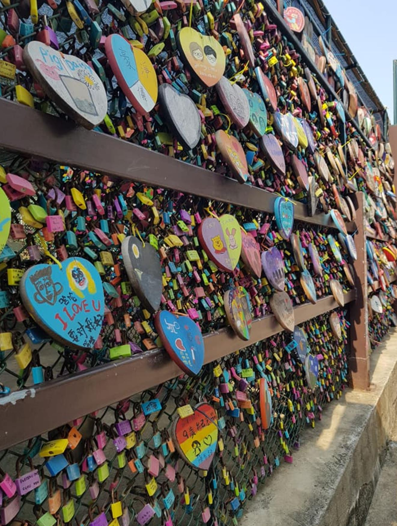 The love lock bridge