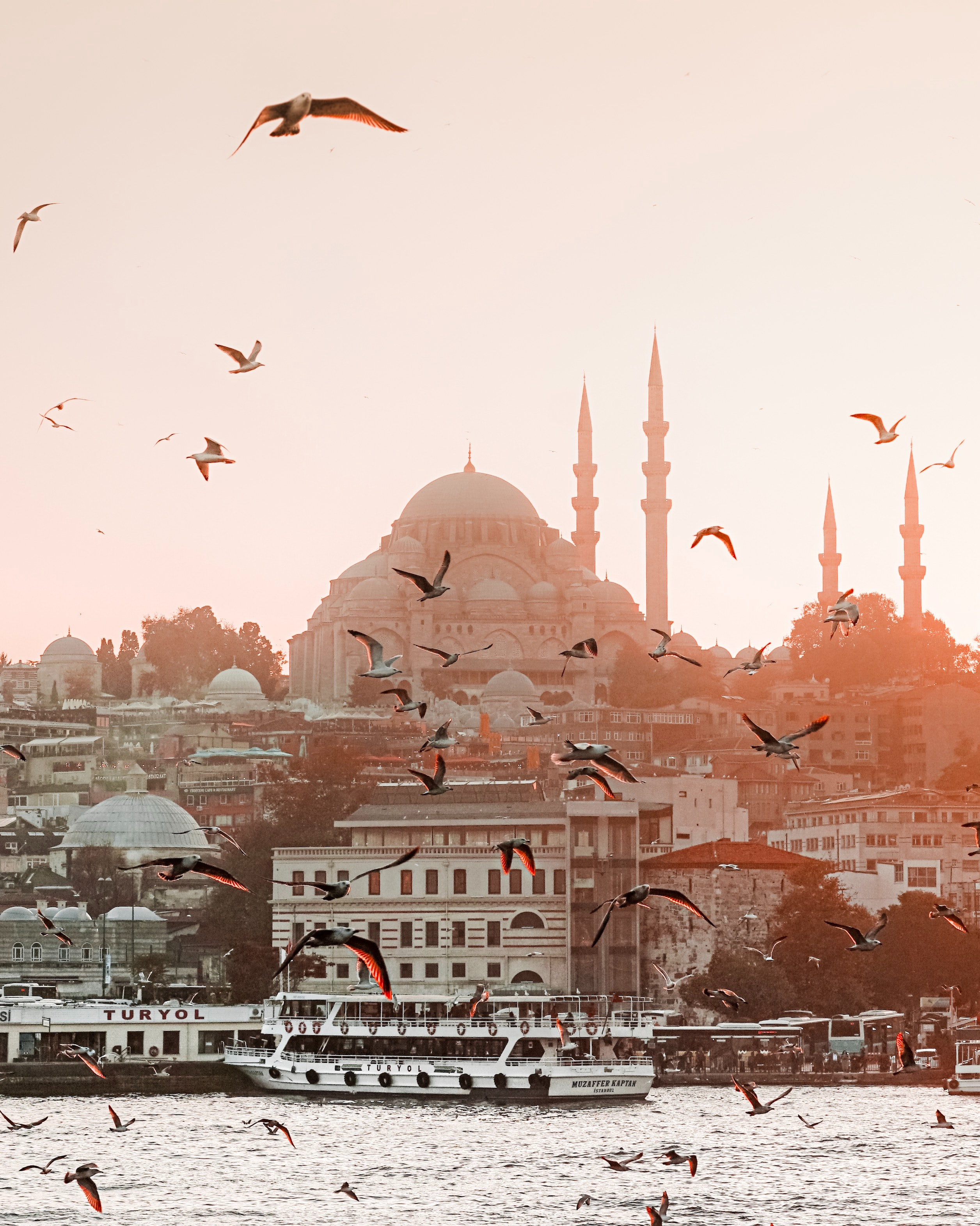 Istanbul architecture at sunset