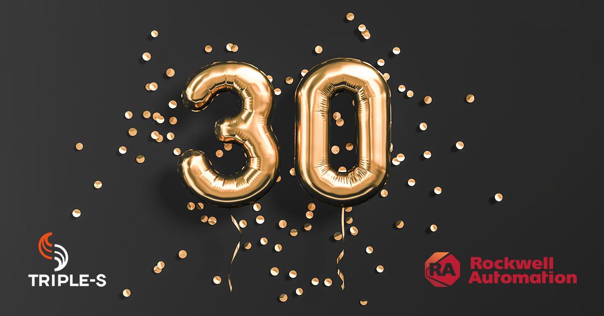 Triple-S feirer 30 år som Rockwell Automation-distributør!