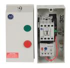 Kapslet starter IP66 23A, 5,4-27 A m/betj. 230VAC stryresp.