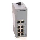 Stratix 2000 Unmanaged Switch 8 Copper, 2 fiber Gigabit