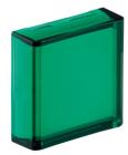 Trykkplate/Linse firkant grønn
