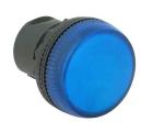 Signallampe hvit metall