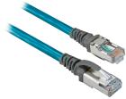 Ethernet RJ45 Patchcord,STR+90DEG Left Angle 1M