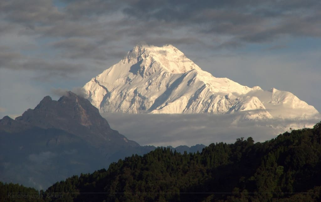 Kanchenjunga as seen from Sikkim