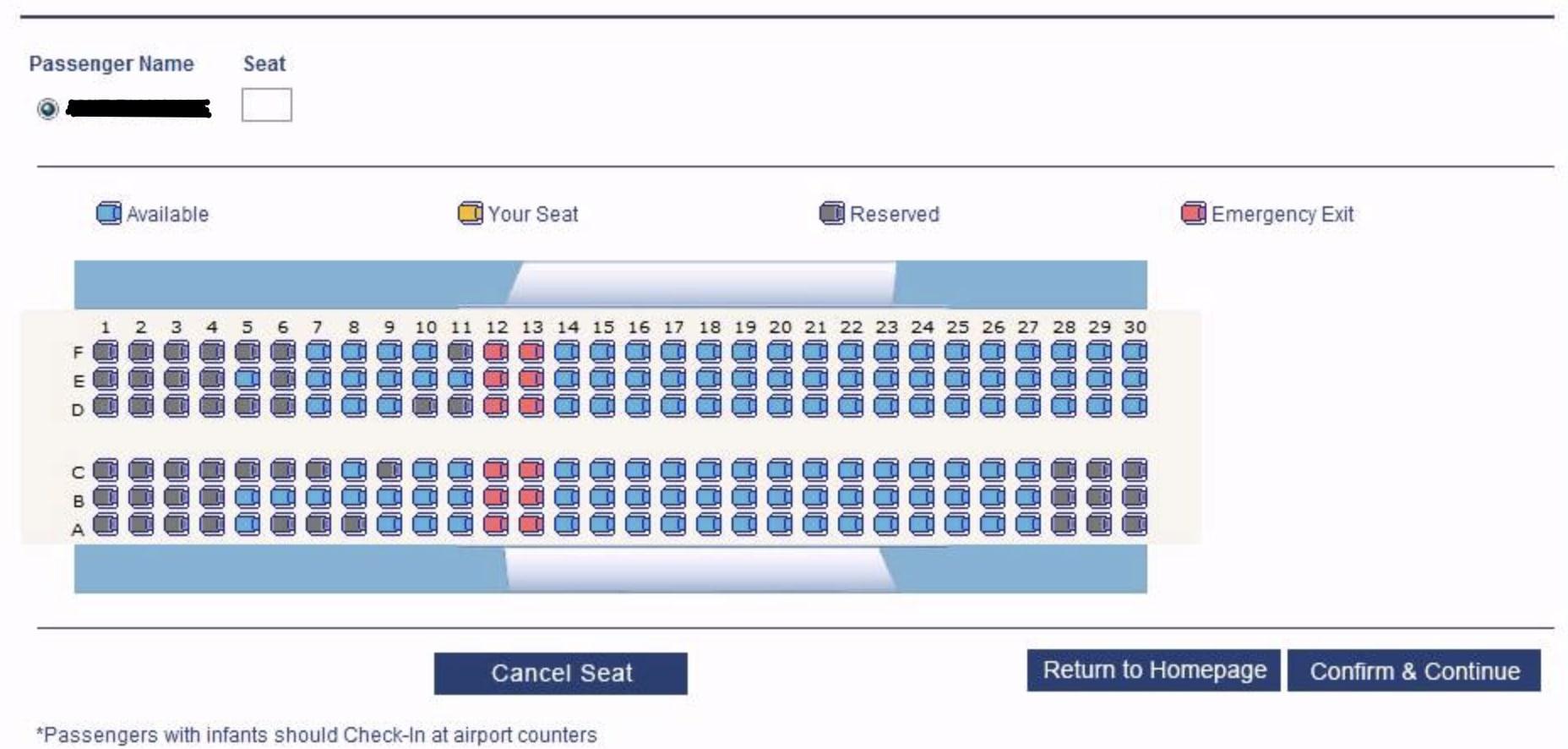 בחירת מושבים במטוס בזמן הצ'ק אין לטיסה