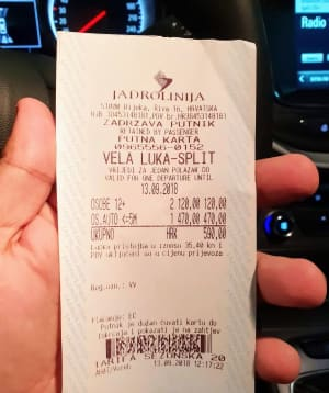 כרטיס למעבורת בקרואטיה: כולל 2 מבוגרים ורכב מנמל ולה לוקה לספליט