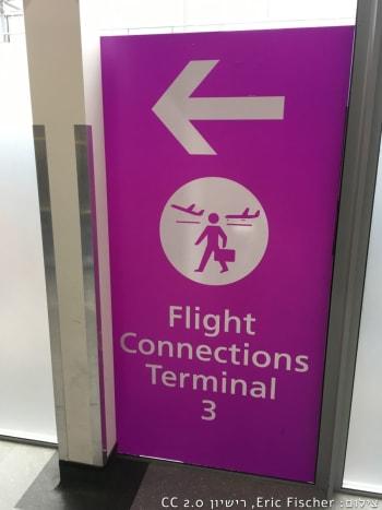 שלט להכוונת נוסעים בקונקשן