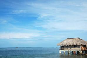 Tour de 2 dias / 1 noche en cabañas sobre el mar en Isla Naranjo Chico San Blas