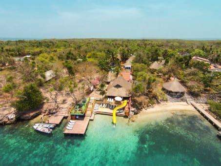 Playa Blanca Vía terrestre y panorámico por islas del Rosario con snorkeling en Barú