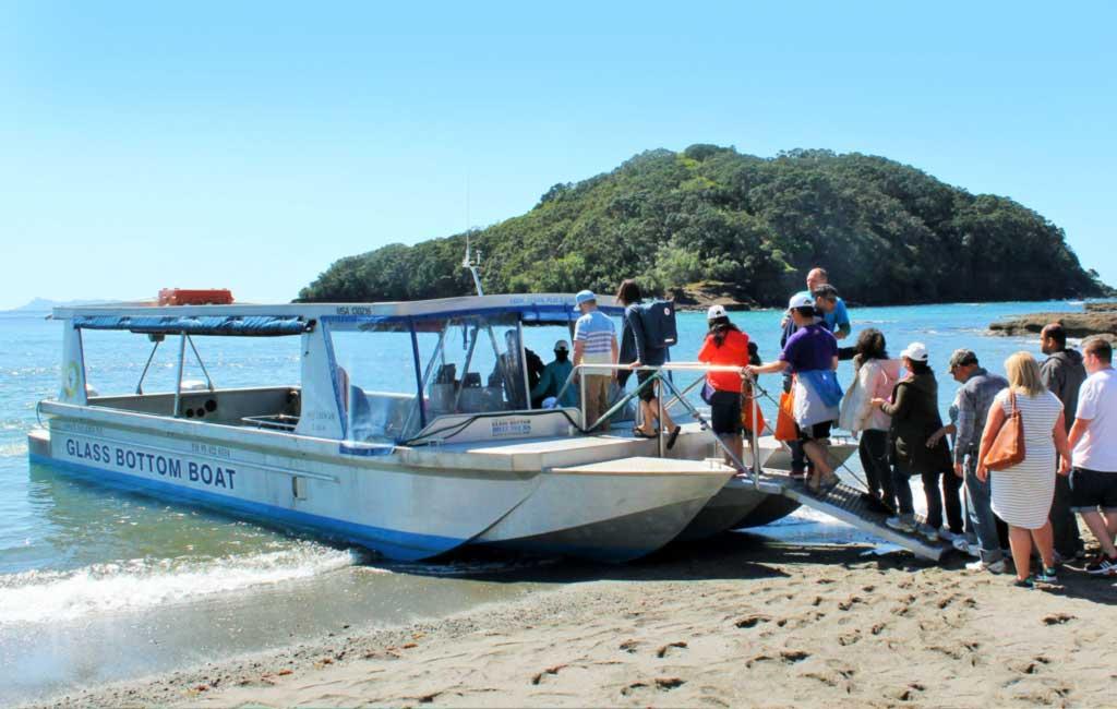 Glass Bottom Boat at Goat Island Marine Reserve