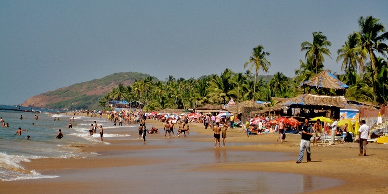 Top Beaches in North Goa - Anjuna Beach