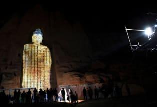 塔利班摧毁的阿富汗巴米扬大佛以3D形式回归