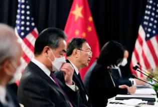 路透焦点:美中最高外交官会谈气氛紧张 一开场就公然指责对方政策