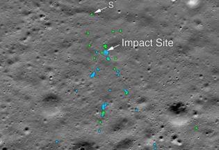 NASA 的照片中发现印度 Vikram 月球着陆器的残骸