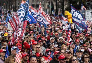 特朗普支持者组织游行 华盛顿求援国民警卫队