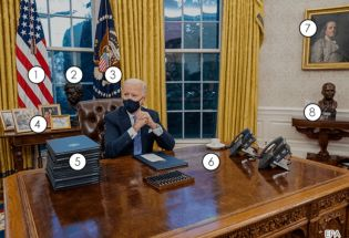 美国总统拜登入住白宫, 其椭圆办公室的新变化