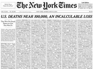 """时报的""""千人讣告""""头版是如何诞生的"""