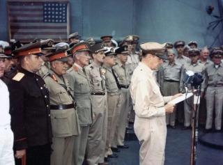麦克阿瑟在日本投降仪式上的讲话