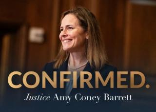 美国最高法院大法官艾米·康尼·巴雷特宣誓就职