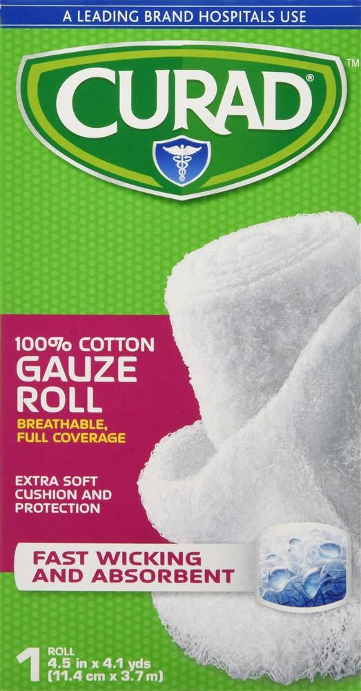 Curad Bandage Roll 4.5 Inches X 4 .1 Yards