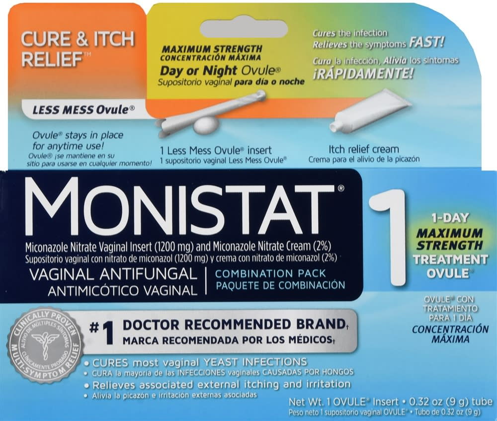 Monistat 1 Vaginal Antifungal Combination Pack Day or Night