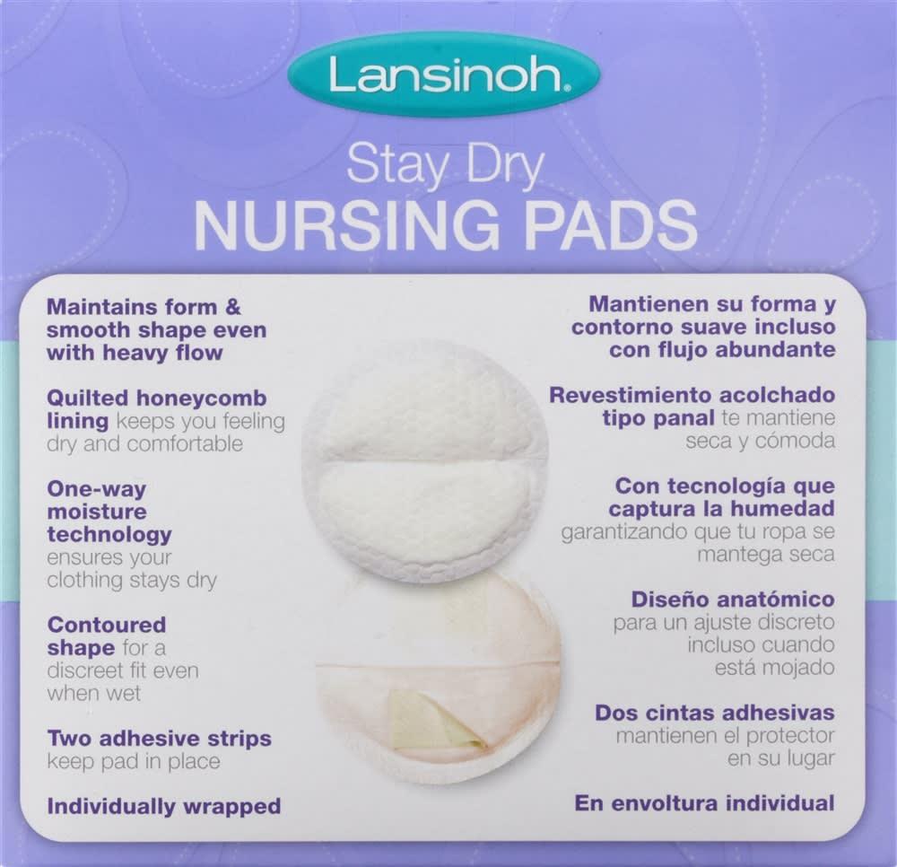 Lansinoh Stay Dry Nursing Pads Medium (36 Count)