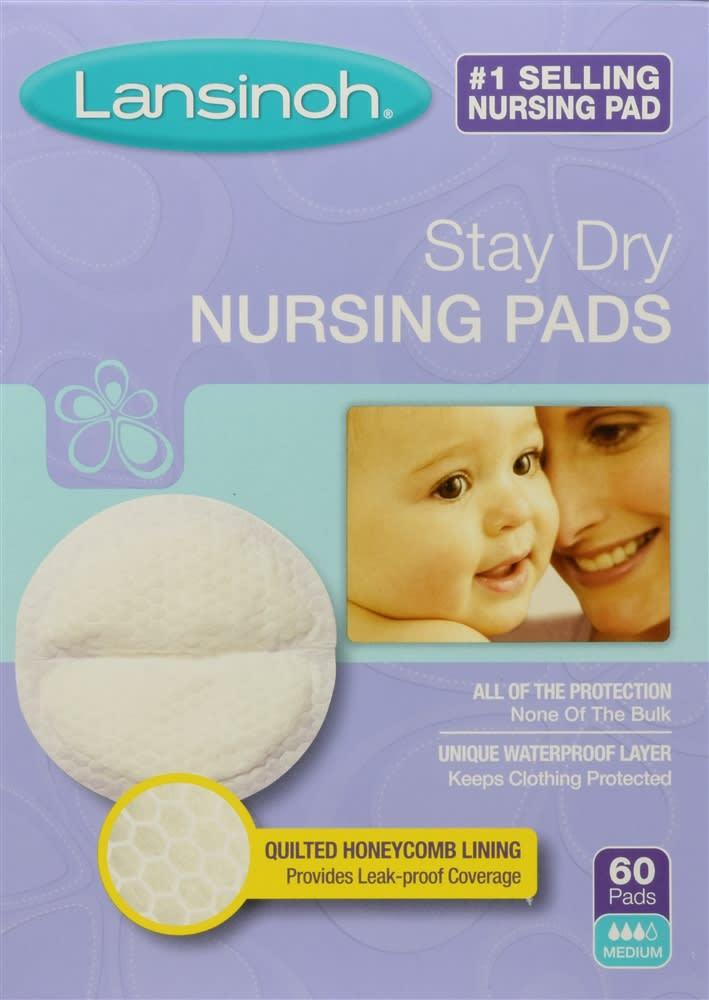 Lansinoh Stay Dry Nursing Pads Medium (60 Count)
