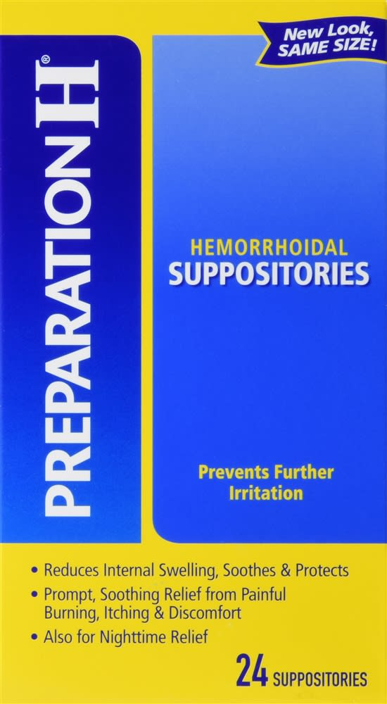 Preparation H Hemorrhoidal Suppositories