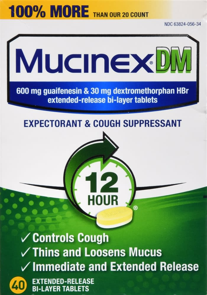 Mucinex DM Expectorant & Cough Suppressant Extended-Release Bi-Layer Tablets