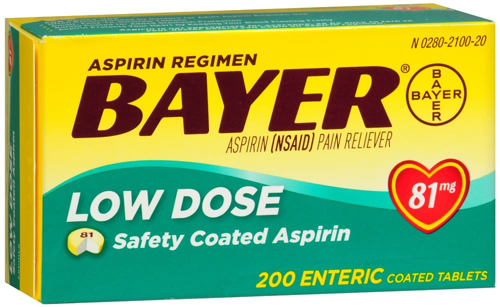 Bayer Low Dose Safety Coated Tablets, Aspirin 81mg (200 Count)