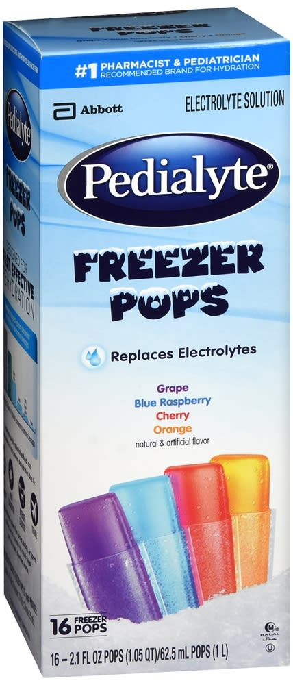 Pedialyte Electrolyte Solution Freezer Pops, Assorted Flavors