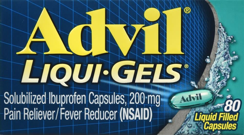 Advil Liqui-Gels, Ibuprofen 200mg (80 count)
