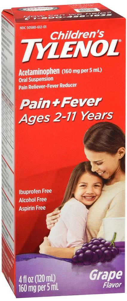 Tylenol Children's Pain + Fever Oral Suspension Grape Flavor
