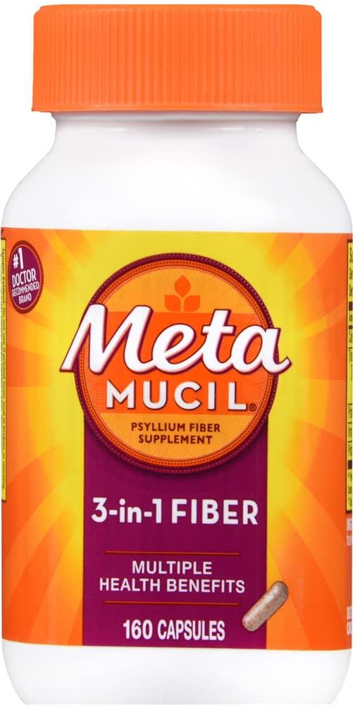 Metamucil 3-in-1 Fiber Capsules
