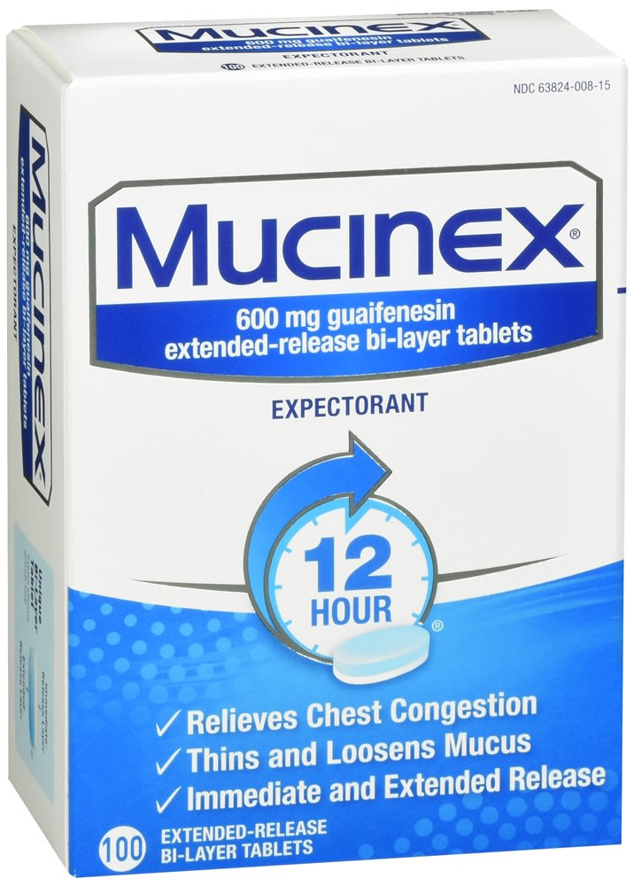 Mucinex Expectorant Extended-Release Bi-Layer Tablets